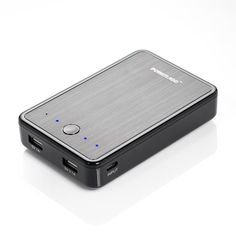 Poweradd™ Pilot E2 12000mAh Dual USB Portable Charger External Battery Power Bank for iPhone 6 5S 5C 5 4S, iPad Mini, Samsung Galaxy S5 S4 S3 S2, Note 4 3, Nexus 5 7, HTC One M8, LG G3, Other Smartphones and Tablets - Black