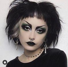 Punk Makeup, Grunge Makeup, Gothic Makeup, Skin Makeup, Makeup Art, Clown Makeup, Beauty Makeup, Glam Makeup, Pretty Makeup