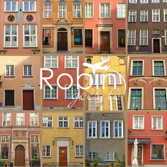 Poland- Gdansk- Houses (Orange)| RobinGoesTo $25 and up; depending on size and material