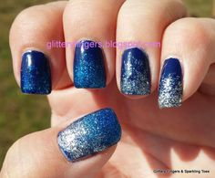 Glittery Fingers & Sparkling Toes: An Ombre Gradient Skittle