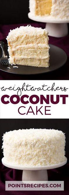 Coconut Cake Recipe (Weight Watchers Smartpoints)