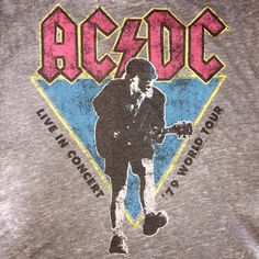 ACDC Band Tee Oversized ACDC band tee, fits size extra small-medium. Just ridiculously comfortable and soft. Tops