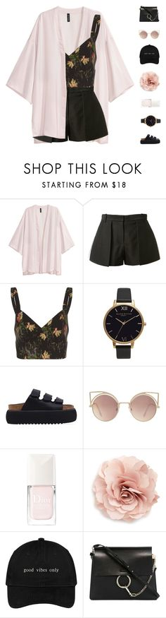 """rosemary"" by cnellepoms ❤ liked on Polyvore featuring H&M, Vera Wang, Vilshenko, Olivia Burton, Buffalo, MANGO, Christian Dior, Cara, Chloé and TropicalVacation"