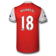 Arsenal 16-17 Nacho Monreal 18 Hjemmebanetrøje Kortærmet.  http://www.fodboldsports.com/arsenal-16-17-nacho-monreal-18-hjemmebanetroje-kortermet.  #fodboldtrøjer
