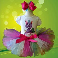 Girls Yo Gabba Gabba  Number Rainbow Tutu Set