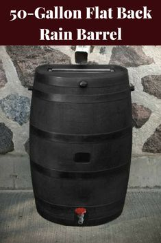 There's nothing like pure, fresh rainwater with no chemicals in it to water the garden, flowers & yard. And a rain barrel (or system connecting multiple rain barrels) is the best way to collect & save the rain, especially when a drought happens. Will not fade, rot or risk insect infestation. Save money on your water bill with the flat back rain barrel. #ad #garden #gardening #rainbarrel #raincollection