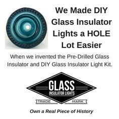 Glass Insulator Diamond Tipped Drill Bit / Hole Saw for DIY Glass Insulator Lights and Crafts
