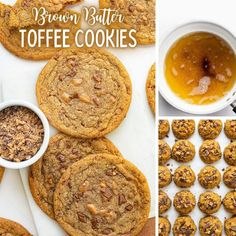 Butter Toffee, Brown Butter, Toffee Cookies, Desserts, Food, Toffee Cupcakes, Tailgate Desserts, Deserts, Caramel Cookies