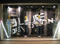 Lee Retail Interiors Jeans Denim POS Window