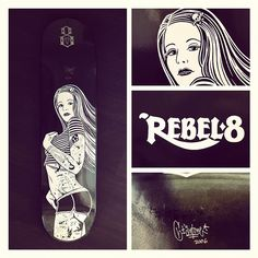 Rebel 8 Deck by Mike Giant (signed & numbered)
