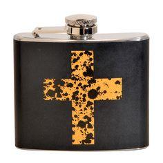 Golden Cross Fun 5-ounce Black Party Flask