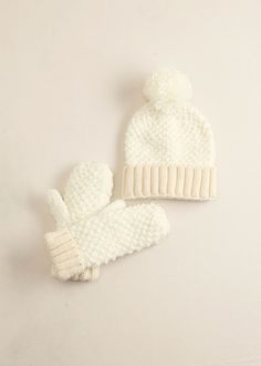 lookbym - Snowball Mittens Ivory Theset Setitems Gloves