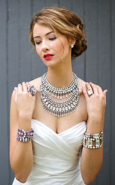 Love this over the top necklace - White Bridal - The Layered Look by Sorrelli Jewelry