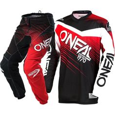 290b75786 NEW Oneal 2018 MX Element Black Red Jersey Pants Cheap Adult Motocross Gear  Set