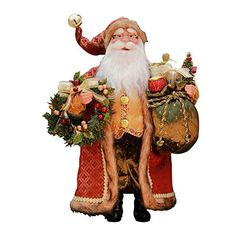"16"" Inch Standing Crimson Santa Claus Christmas Figurine Figure Decoration 41606. #SantaClaus #Santa #Claus #Christmas  #Figurine #Decor #Gift #gosstudio .★ We recommend Gift Shop: http://www.zazzle.com/vintagestylestudio ★"