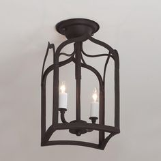 Gothic Arch Iron Ceiling Light: flush mount; make ceiling appear higher