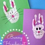 Bunny Rabbit Handprint Craft For Kids (Easter Idea)