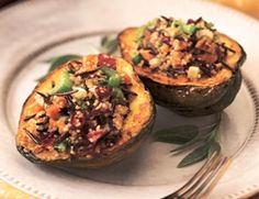 Quinoa and Wild Rice Stuffed Squash