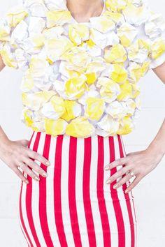 DIY: Pop Corn disfraz para chicas ¡Súper fácil! – Ideas para Decoracion