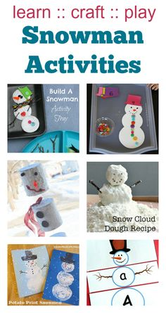 easy snowman craft for toddlers, preschool snowman activities