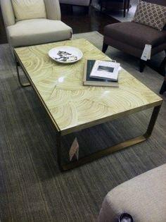 Faux Stone DIY Idea. Using $70 ikea coffee table to