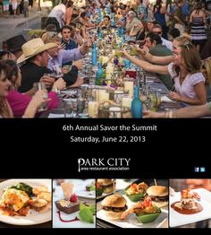 """Park City's longest dinner party during Savor the Summit's """"Grande Table"""" event. One long dinner table graces the length of Main Street, allowing over 1500 diners to be served by a variety of Park City restaurants in celebration of fabulous outdoor dining and summer in the mountains. Make reservations for the Grande Table, or simply stroll historic downtown Park City to enjoy the live music and art galleries. Sat June 23, 2012, 4-10 p.m."""