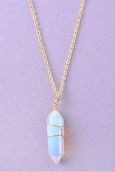 Iridescent Crystal Necklace