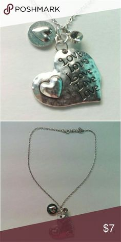 Heart Love Necklace NWT. Silver heart love pendant charm necklace.  *Fashion Jewelry -Bundle to save on shipping cost Jewelry Necklaces