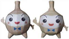 PAPERMAU: Toujitchi Japanese Mascot Paper Toy - by Techikun Papercraft