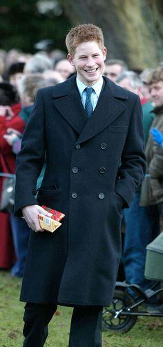 Prince Harry on Christmas Day 2001.