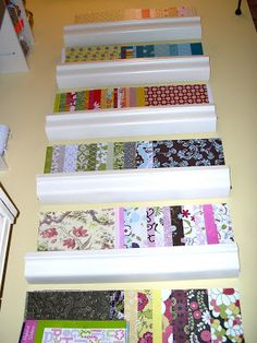 Great raft closet. I especially like the use of gutters to organize papers!