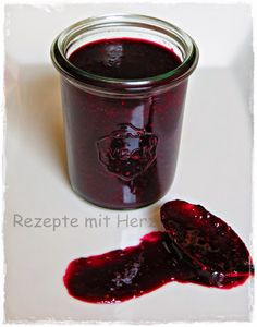 Thermomix - Rezepte mit Herz : Chia-Heidelbeermarmelade