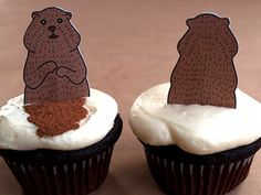 I think these are cute with the shadow and no shadow cocoa marks! (groundhog could be cuter though...)