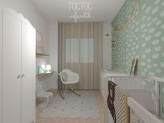 Habitación Infantil Suave Nubes Mint - Toc Toc Infantil