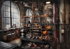 Steampunk - Room - Steampunk Studio Photograph by Mike Savad
