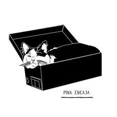 Pina encaja #pina #cat #illustration