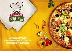 Marca e Anuncio | Pizzaria Niquinho on Behance
