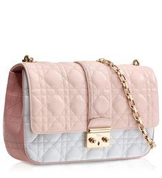 """MISS DIOR - Bolso """"Miss Dior"""" en piel tricolor rosa oscuro, rosa polvo y gris"""