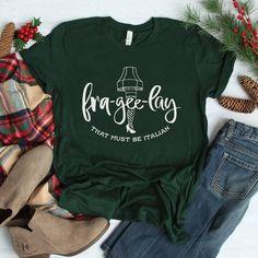 Christmas Story Tshirt Frageelay Christmas Shirts - Christmas T Shirt - Ideas of Christmas T Shirt - Design Mandala, A Christmas Story, Christmas Pjs, Griswold Christmas, Christmas Goodies, Christmas 2019, Xmas, T Shirt World, Vinyl Shirts
