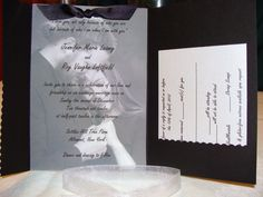 wedding invitation pocket samples | Pocketfold Wedding Invitation with by CaffeinatedPapercuts on Etsy