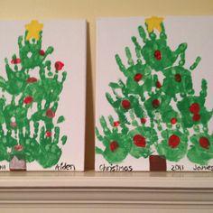 Handprint art- Christmas tree