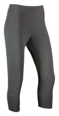Natural Reflections Knit Capri Leggings for Ladies - Heather Grey - 2XL