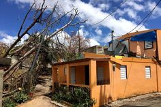 Puerto Rico damaged house.  Photo: Los Bajos was almost swallowed by the Caribbean when the category 4 hurricane roared in with a storm surge. (ABC News: Zoe Daniel)