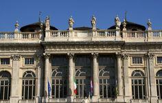 Torino, Piazza Castello, Palazzo Madama, Barockfassade (Madama Palace, baroque facade)