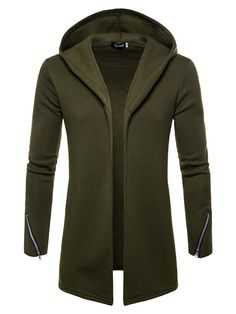 Hooded Cardigan Mens, Man's Overcoat, Hooded Trench Coat, Plus Size Men, Hooded Sweatshirts, Hoodies, Autumn Fashion, Men Casual, Winter Clothes