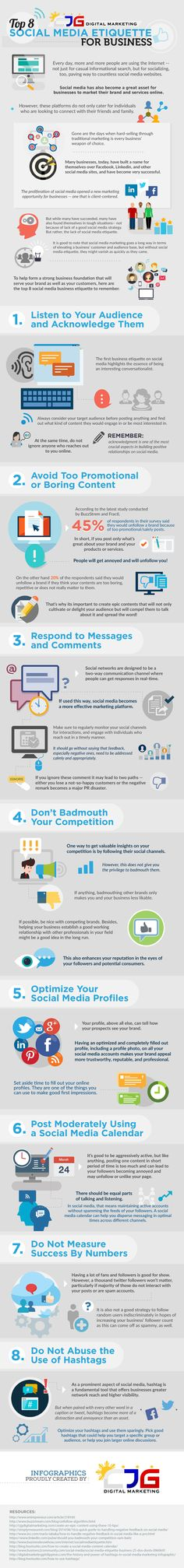 Top 8 Social Media Etiquette for Business #Infographic