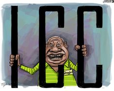 The ICC decides that Laurent #Gbagbo will be put on trial for his role in the post-election violence in Ivory Coast in 2010-2011. Cartoon by Trayko Popov.