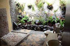 La salle de bains à l'exterieur