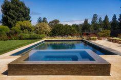 pool & hot tub that look like reflecting pools