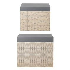Bloomingville storage boxes wood 2-pack - wood-grey - Bloomingville